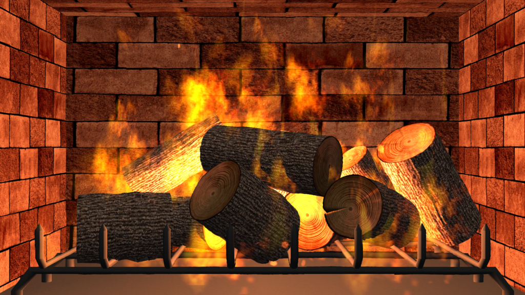 Eternal Fire - Free interactive 3D fireplace simulation - TMSOFT