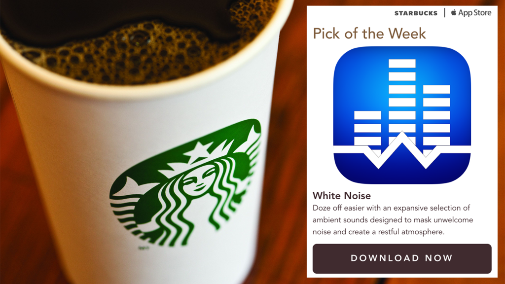 Starbucks pick-of-the-week White Noise App icon