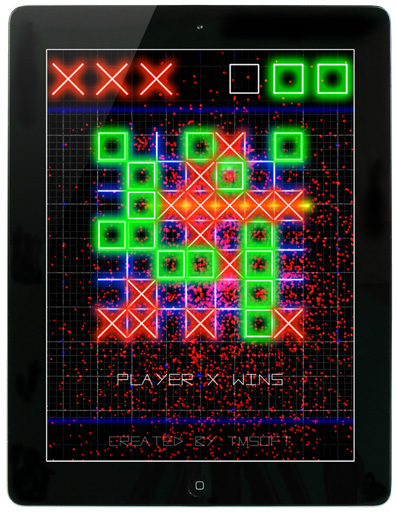 Tic Tac Toe Glow for iPad