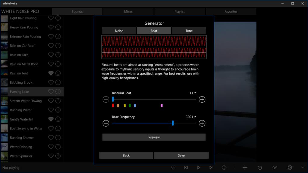Pro Generator in White Noise for Windows 10